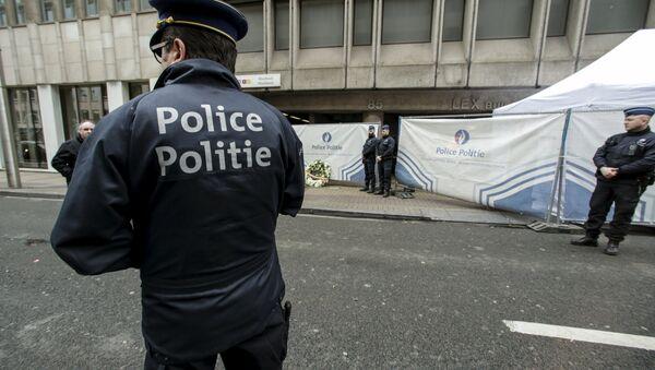 Policía belga - Sputnik Mundo