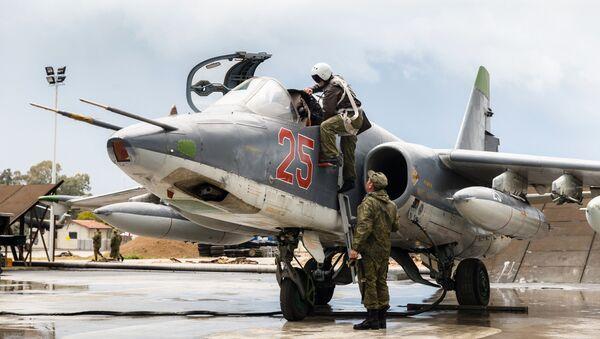Aviación rusa en la base de Hmeymim en Siria (archivo) - Sputnik Mundo