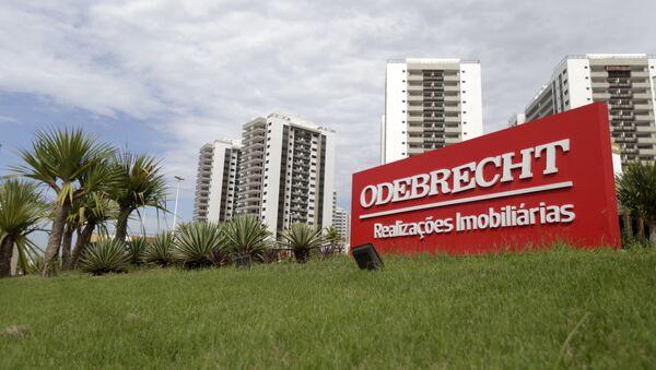 Logo de la empresa Odebrecht - Sputnik Mundo