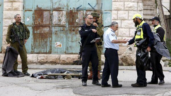 Las fuerzas de seguridad  israelíes en el lugar del accidente - Sputnik Mundo