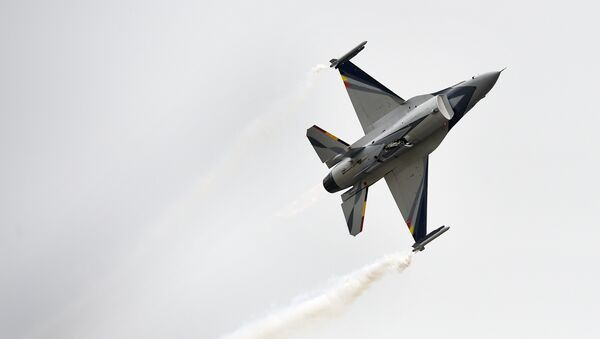 Un caza F-16 - Sputnik Mundo