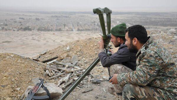 Los militares sirios - Sputnik Mundo
