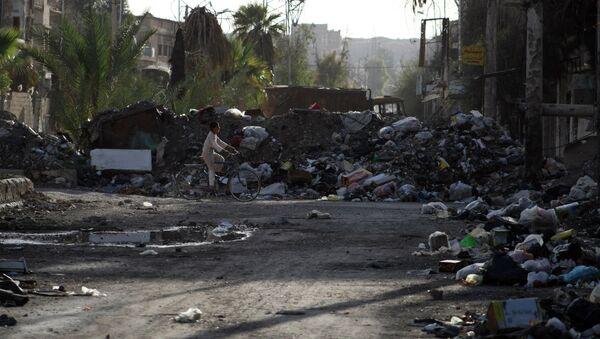 Edificios destruidos en Deir Ezzor, Siria - Sputnik Mundo
