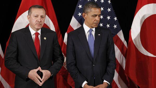 Presidente de Turquía, Recep Tayyip Erdogan, y presidente de EEUU, Barack Obama (Archivo) - Sputnik Mundo