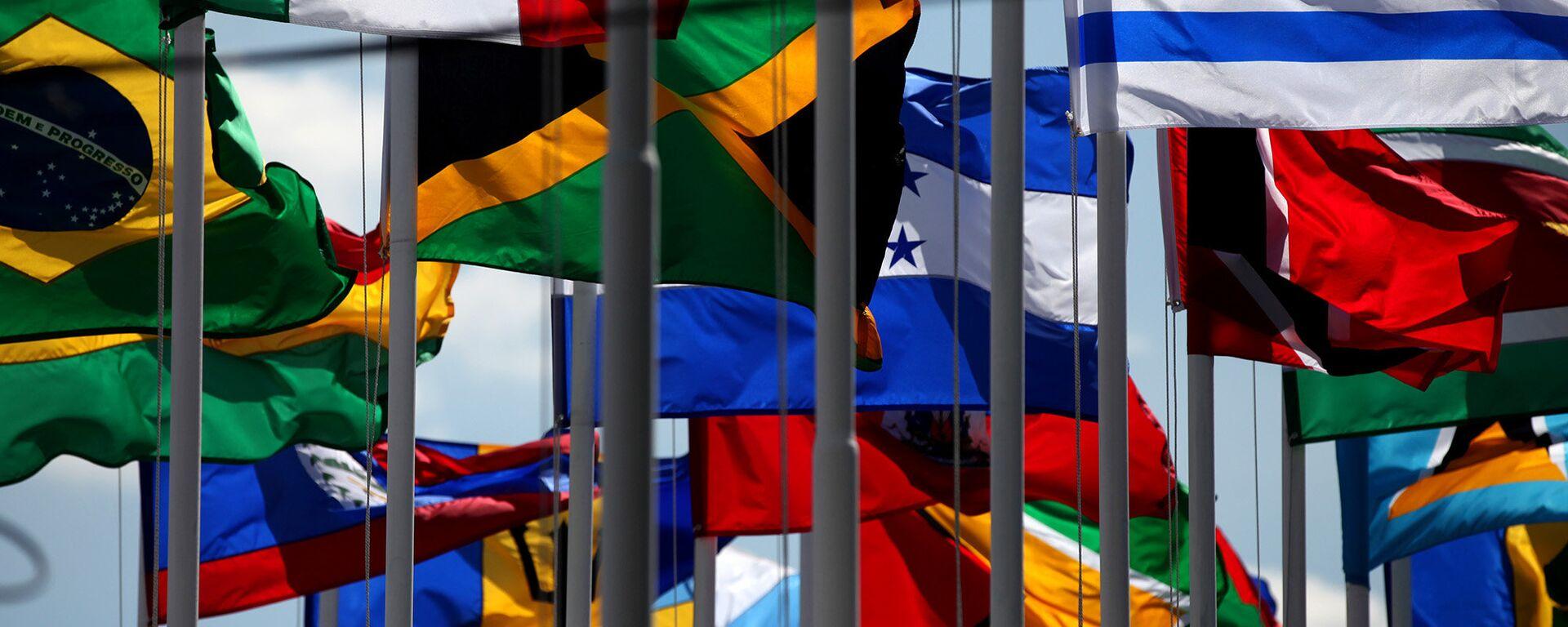 Banderas de países miembros de la CELAC (archivo) - Sputnik Mundo, 1920, 12.01.2021