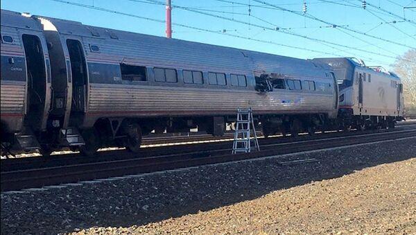 Tren accidentado de la compañía Amtrak - Sputnik Mundo