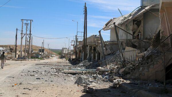 Edificios destruidos en la provincia de Alepo, Siria - Sputnik Mundo