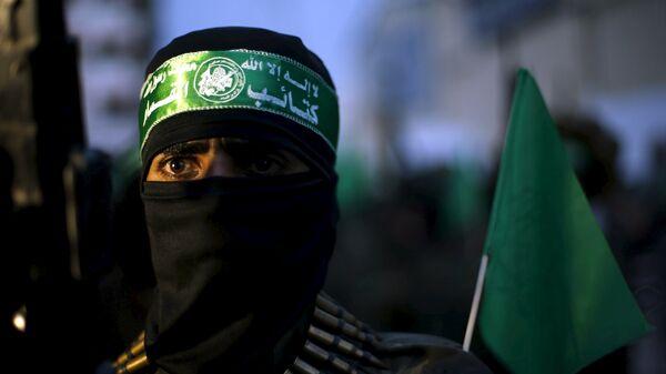 Militante del movimiento Hamás - Sputnik Mundo