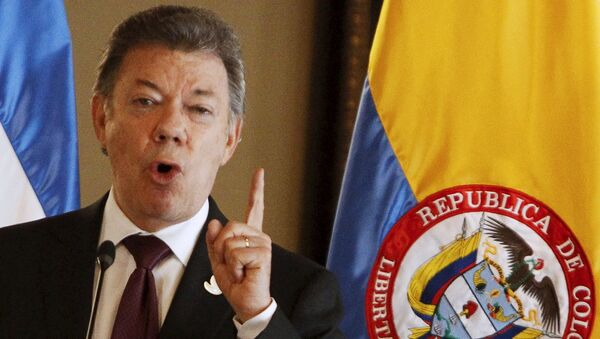Juan Manuel Santos, presidente de Colombia - Sputnik Mundo