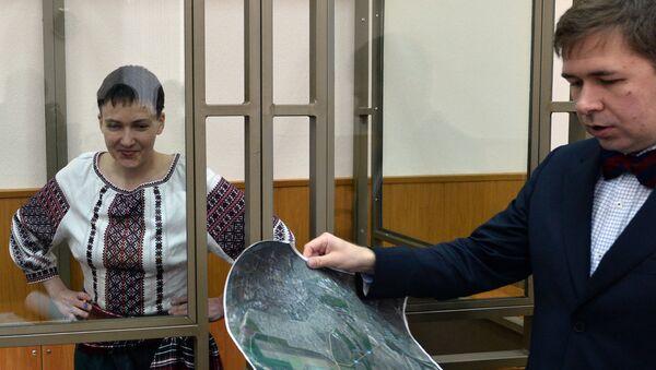 Nadezhda Sávchenko y uno de sus abogados, Iliá Nóvikov - Sputnik Mundo