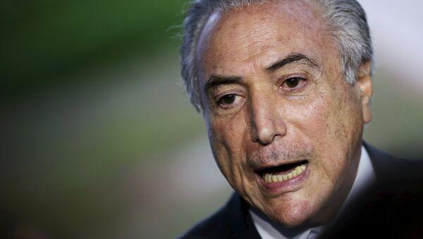 Michel Temer, vicepresidente de Brasil - Sputnik Mundo