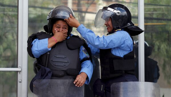 Policías de Honduras - Sputnik Mundo