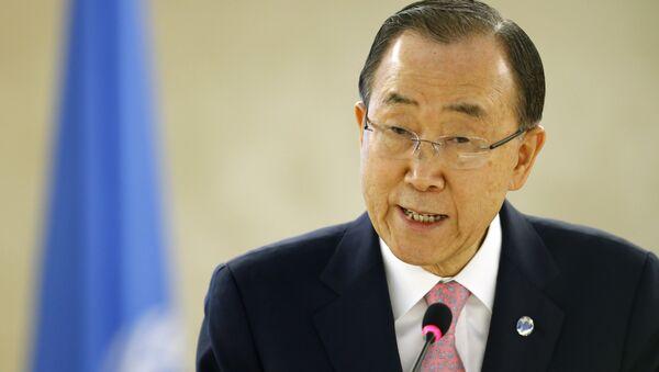 Ban Ki-Moon, secretario general de la ONU - Sputnik Mundo