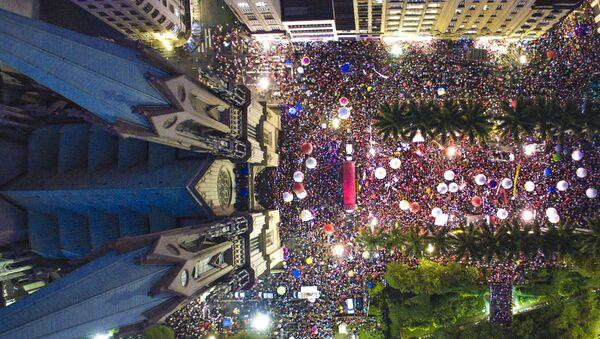 Manifestantes protestan en Sao Paulo (Archivo) - Sputnik Mundo