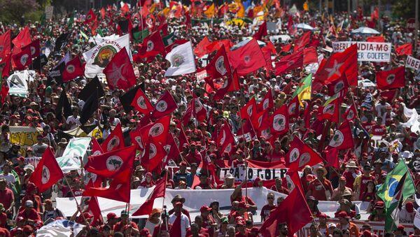 Manifestaciones contra el impeachment a Rousseff - Sputnik Mundo