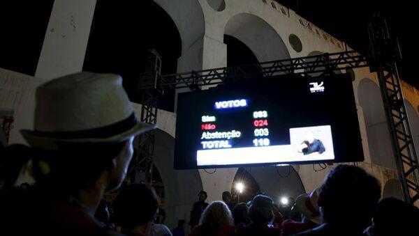 Votación en la Cámara de los Diputados de Brasil - Sputnik Mundo