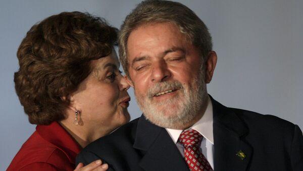 Presidenta de Brasil, Dilma Rousseff, y expresidente del país, Luiz Inácio Lula da Silva - Sputnik Mundo
