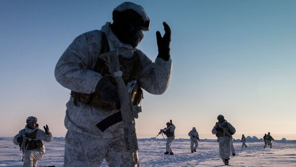 Fuerzas especiales chechenas en Ártico - Sputnik Mundo