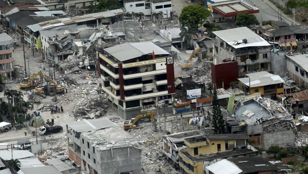 Ecuador después del terremoto - Sputnik Mundo