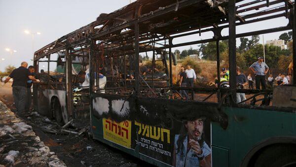 Explosión de un autobús, Jerusalén - Sputnik Mundo