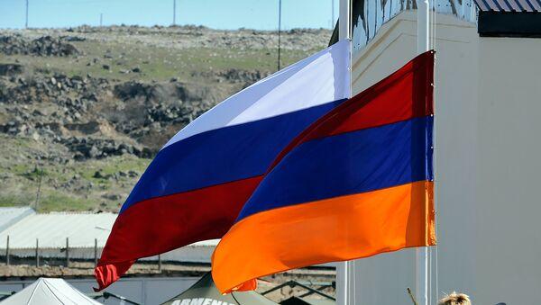 Banderas de Rusia y Armenia - Sputnik Mundo
