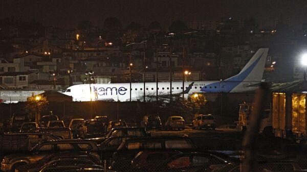 Avión de aerolínea ecuatoriana sale de pista en Aeropuerto internacional de Quito - Sputnik Mundo
