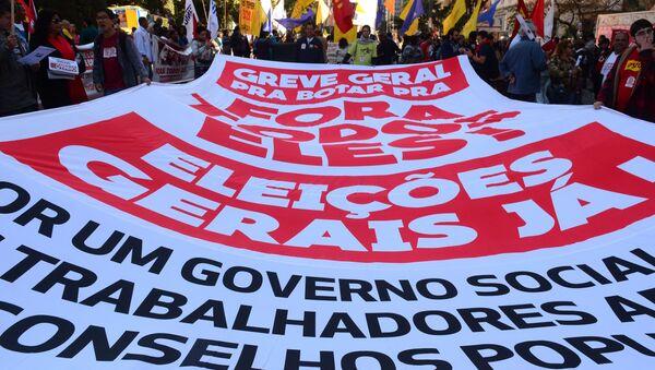 Ato pede novas eleições gerais no Brasil - Sputnik Mundo