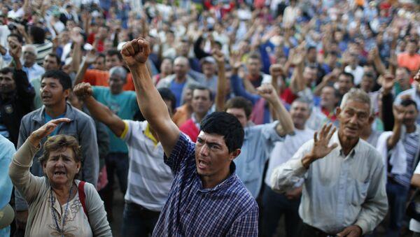 Manifestaciones por parte de los trabajadores rurales en Asunción - Sputnik Mundo