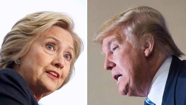 Hillary Clinton y Donald Trump, candidatos a la presidencia de EEUU - Sputnik Mundo