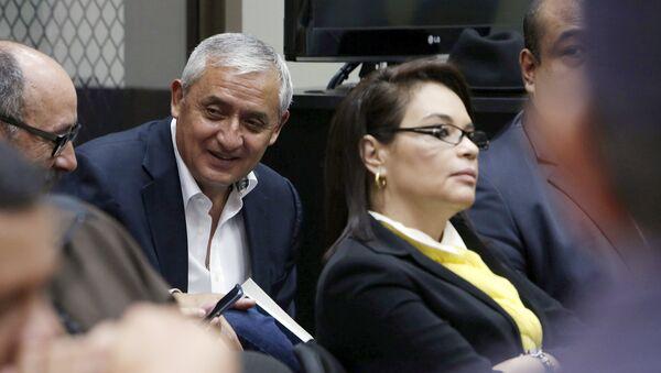 Otto Pérez Molina, expresidente de Guatemala, y Roxana Baldetti, exvicepresidenta de Guatemala - Sputnik Mundo