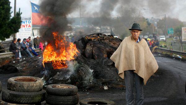 Protesta de pescadores en Chile - Sputnik Mundo