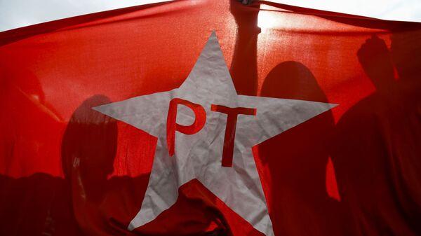 Bandera del Partido de los Trabajadores - Sputnik Mundo