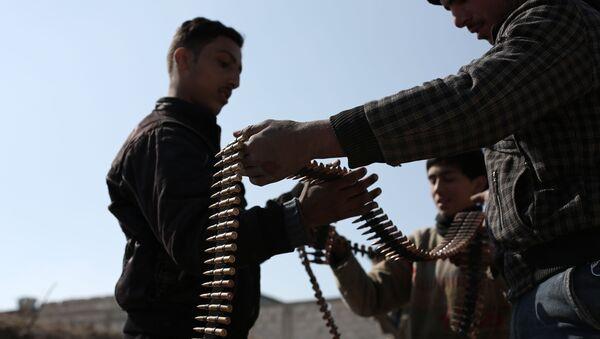 Combatientes del grupo Yeish al Islam (archivo) - Sputnik Mundo