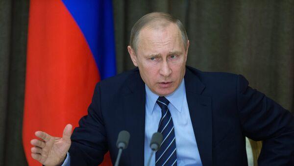 Президент РФ В. Путин провел совещание с военными в Сочи - Sputnik Mundo