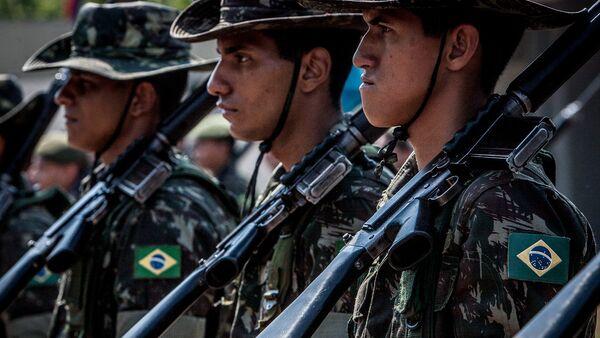 Soldados del Ejército de Brasil (archivo) - Sputnik Mundo