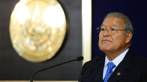 El presidente salvadoreño, Salvador Sánchez Cerén - Sputnik Mundo
