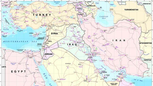 El mapa del Oriente Medio - Sputnik Mundo