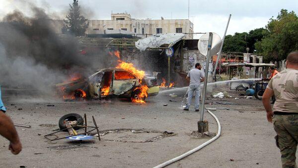 Lugar de una de las explosiones sucedidas en Siria - Sputnik Mundo