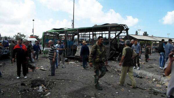 Explosiones cerca de la terminal de autobuses  en Jableh - Sputnik Mundo