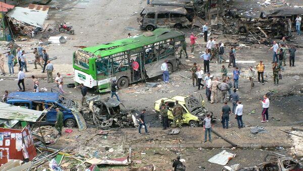 Lugar del atentado en Tartus, Siria - Sputnik Mundo