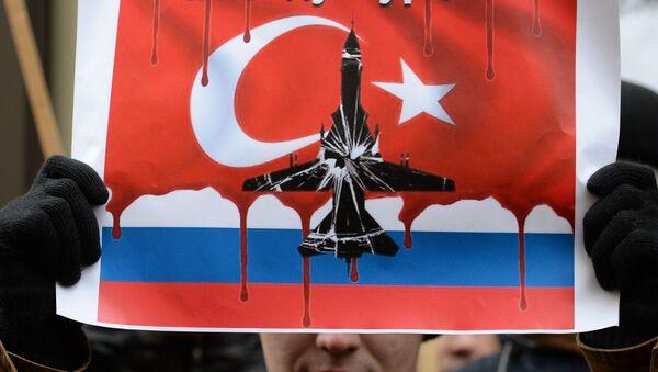 Protesta en Moscú contra las acciones de las Fuerzas Aéreas de Turquía - Sputnik Mundo
