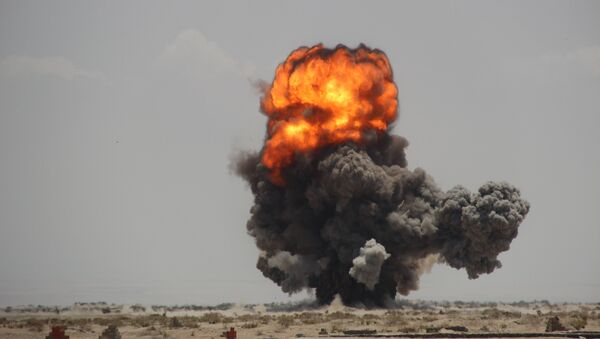 Una explosión en Yemen - Sputnik Mundo