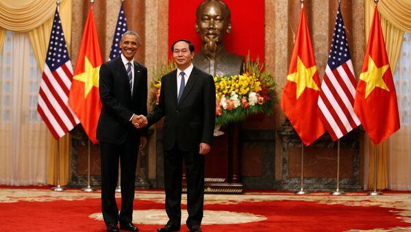 Presidente de EEUU Barack Obama y el presidente de Vietnam Tran Dai Quang - Sputnik Mundo