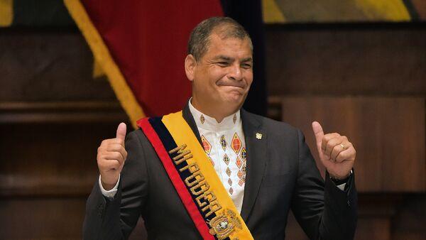Rafael Correa, el presidente de Ecuador - Sputnik Mundo