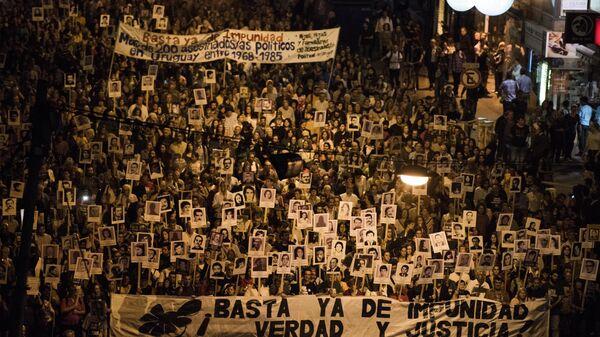 Marcha del Silencio en Montevideo, Uruguay - Sputnik Mundo