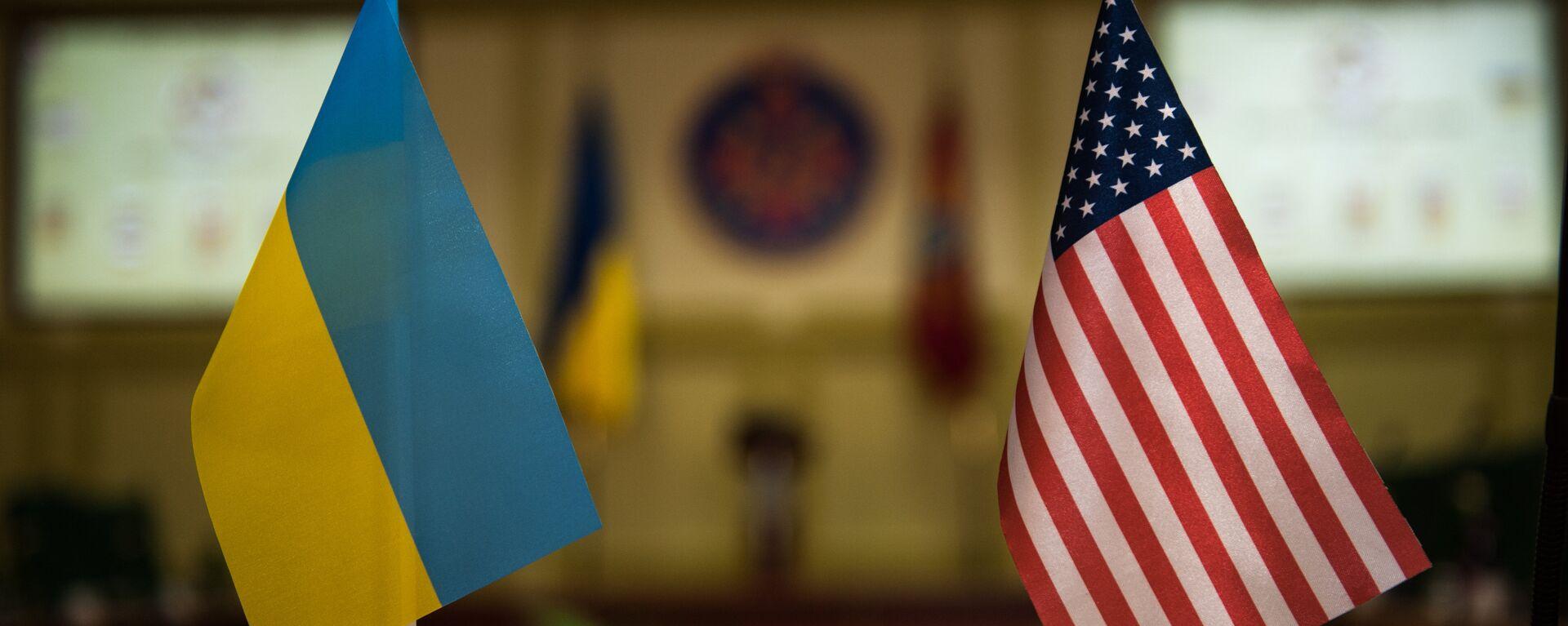 Banderas Ucrania y EEUU - Sputnik Mundo, 1920, 22.09.2021