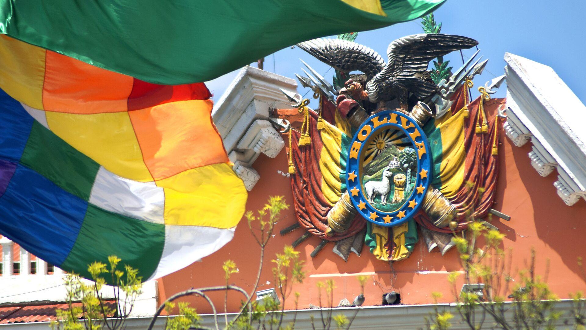 Escudo de Bolivia en el Palacio de Gobierno - Sputnik Mundo, 1920, 30.09.2021
