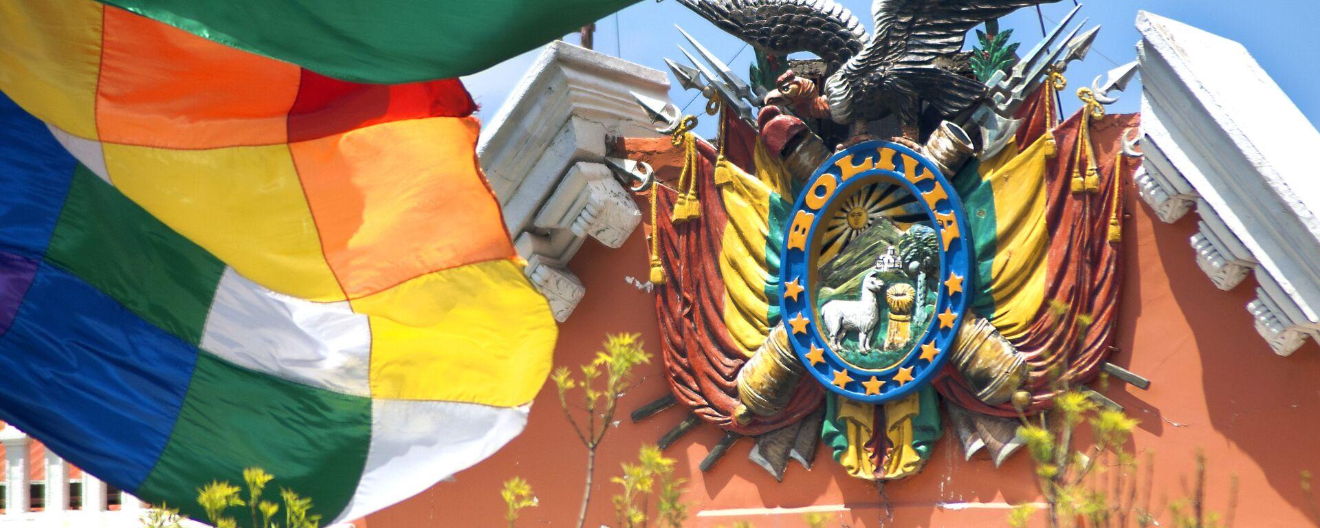 Escudo de Bolivia en el Palacio de Gobierno - Sputnik Mundo, 1920, 29.12.2020