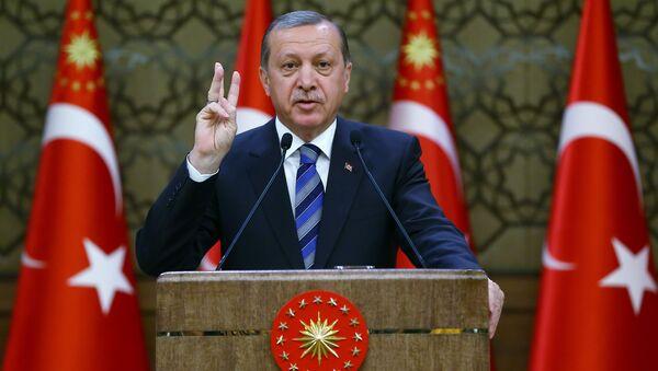 El presidente turco, Recep Tayyip Erdogan (archivo) - Sputnik Mundo