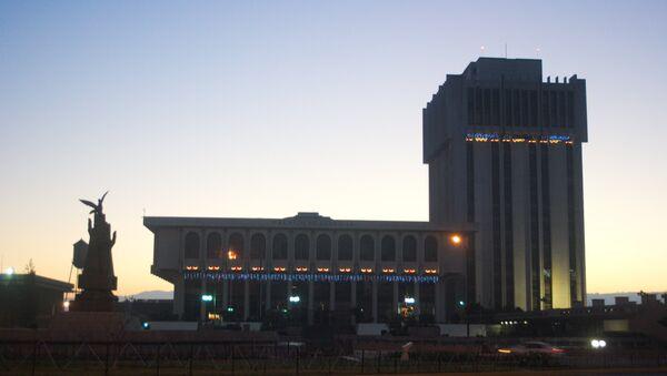 Palacio de la Justicia, Torre de Tribunales junto al monumento a la Paz, ciudad de Guatemala - Sputnik Mundo